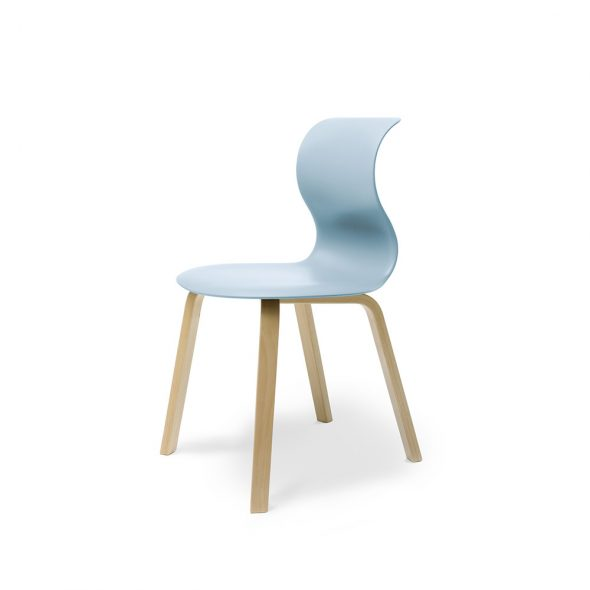 FLOETOTTO_PRO CHAIR Four-legged wooden frame_3006_Aquablau